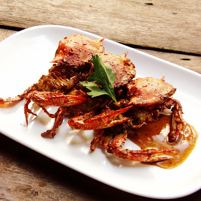 Crab in Garlic and Hoisin Sauce