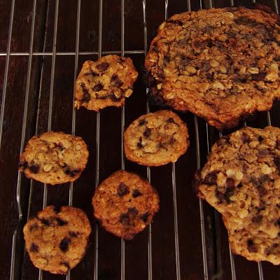 Crispy Chocolate Oatmeal Cookies Two Way