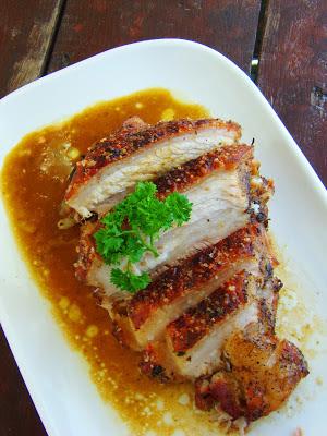 Steamed Roast Pork with Crispy Crackling
