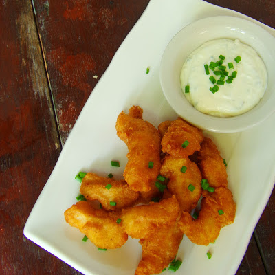 Red Horse Beer Battered Fish Fillet with Yogurt-Sour Cream-Cream Cheese Dip a la Kusina ni Teds