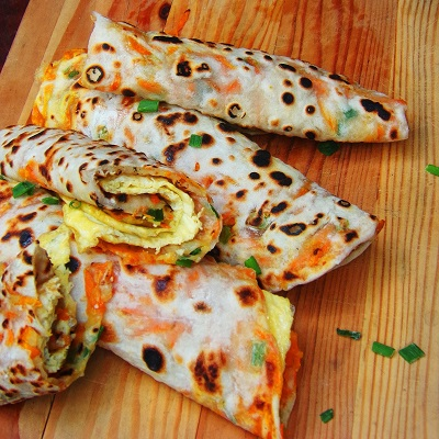 Shredded Carrot and Scallion Flatbread or Cong You  Bing