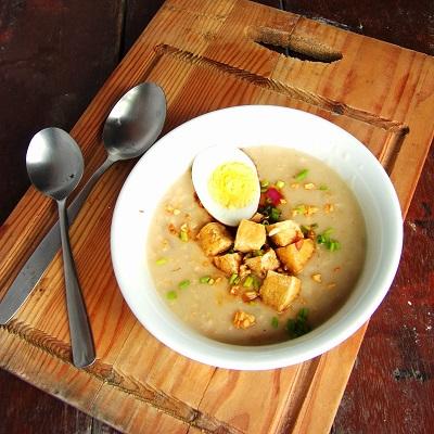 Tofu and Oatmeal Porridge