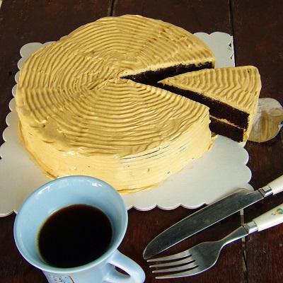 Chocolate Yema Cake a la Kusina ni Teds