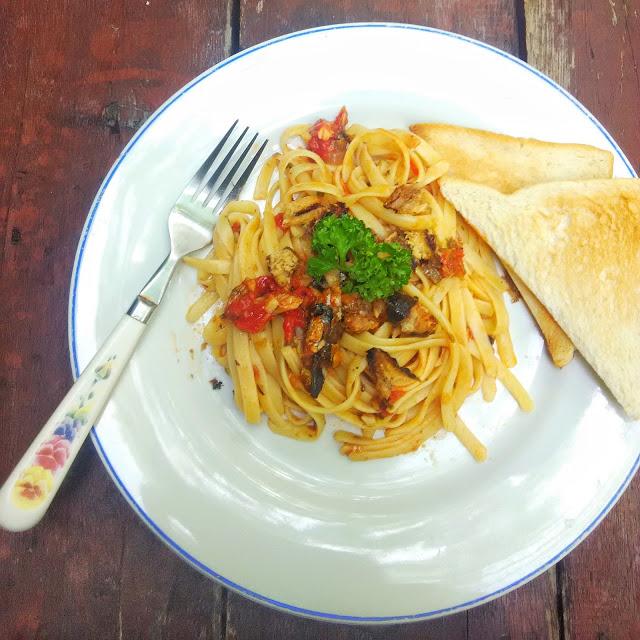 Toasted Canned Sardines Pasta