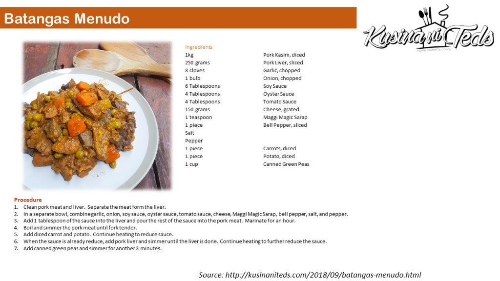 Batangas Menudo Recipe Card