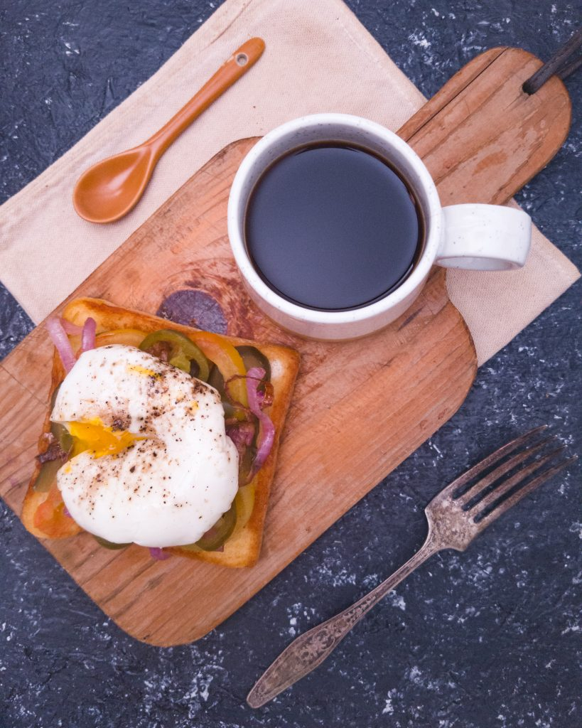 Quick poached eggs and toast recipe