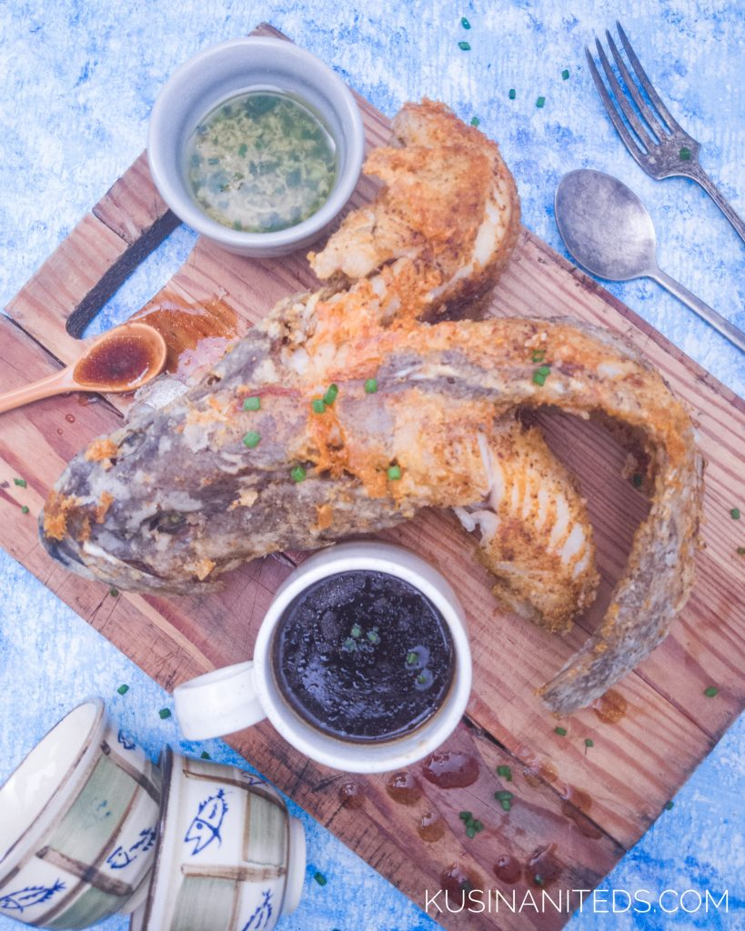 Lapu - lapu Fish with soy and ginger sauce