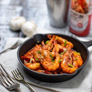 Shrimps in Kimchi Seasoning Recipe