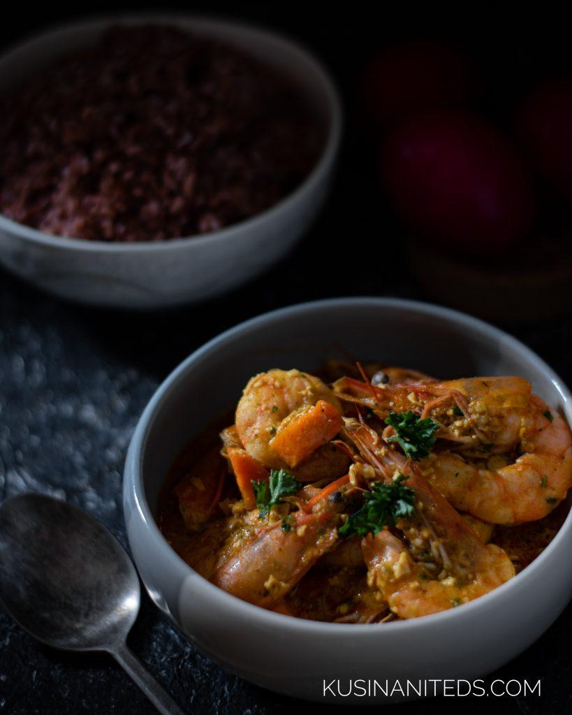 Salted Egg Shrimp Curry