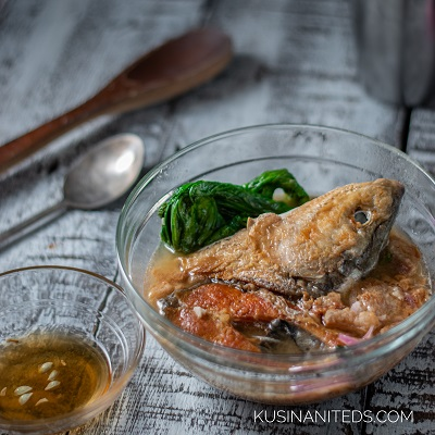 Sinigang na Bangus sa Miso: How about a little bit of pork fat?