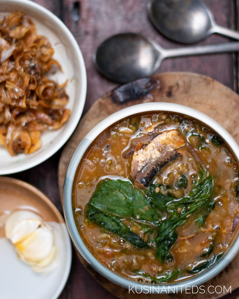 Munggo Sardines with Alugbati