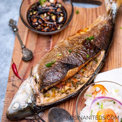 Oven Grilled Milkfish: Inihaw na Bangus sa Hurno with Radish Enselada