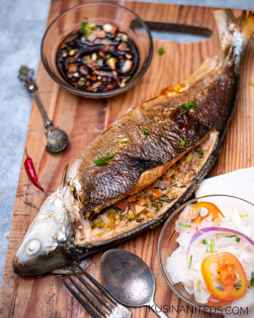 Oven Grilled Milkfish