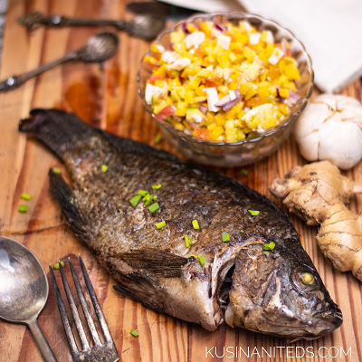 Easy Oven Grilled Tilapia: Best to have it with Mango Salad