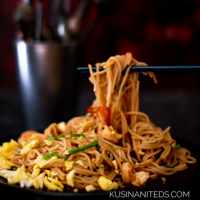 Stir Fry Shrimp Somen: When Chinese Dish meets Japanese Ingredient