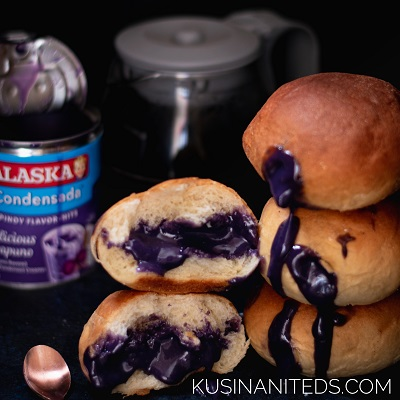 Ube Macapuno Baked Donuts: Sweet Filling in A Pillowy Soft Bread